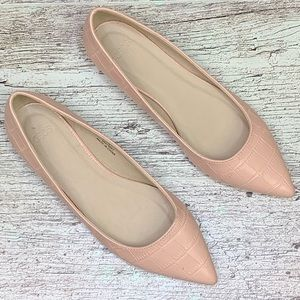 ASOS croc pointed toe flats